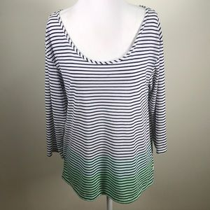 AEO Open Back Striped Ombré Top